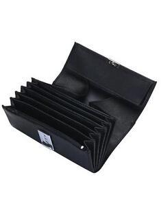 miglior servizio 7d336 6ffc5 Dettagli su Portafoglio borsellino cameriere cinque scomparti, uno con  cerniera tasca monete