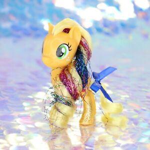 My-Little-Pony-APPLEJACK-Apples-Orange-Glitter-Tinsel-G4-5-FiM-MLP-Movie-BD683