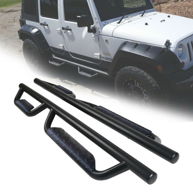 For Jeep Wrangler JK 2-Door Pair of OE Style Side Step Nerf Bar Running Board
