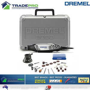 Dremel Electric Rotary Tool PRO 130W Variable Speed 3000 Series 26pc Kit & Case