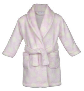 Personalised Baby Bath Robe Pink Teddy Bear Dressing Gown Baby Girl Gift 6-12 Months