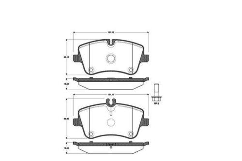 Bremsbeläge Bremsbelagsatz Bremsklötze vorne für Mercedes C-Klasse W203 CLC