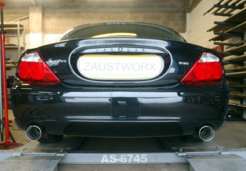 "Jaguar S Type Sport 2.5 V6 Rear silencer delete pipes 4/"" Tail pipe style B"