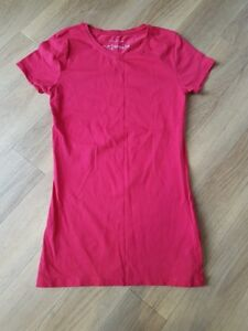 Atmosphere-Ladies-Girls-red-plain-summer-top-t-shirt-size-6-ex-condition