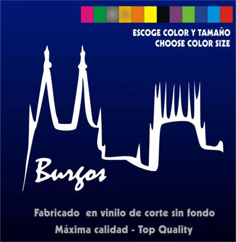 Catedral Sticker Vinilo Coche Spain Pegatina Moto Burgos