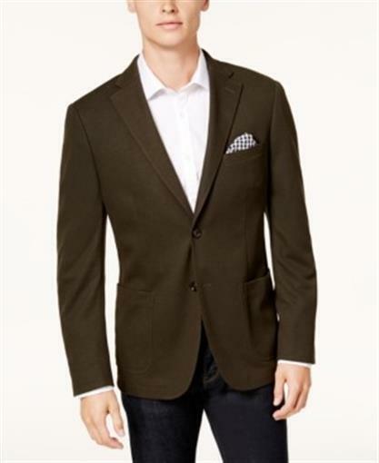 Bar III Slim Fit Knit Sport Coat Green Mens Size 40S New