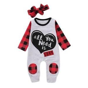 a78926b6174f Details about Newborn Infant Kids Baby Girl Bodysuit Romper Jumpsuit Outfit  Boy Clothes Set US