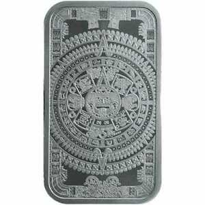 Aztec-Calendar-1oz-999-Silver-Minted-Bullion-Bar-Golden-State-Mint