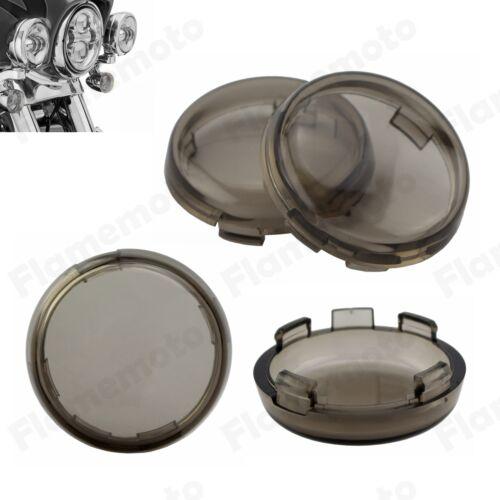 4Pcs Turn Signal Light Indicator Smoke Lenses Lens For Harley 2000-up XL1200N