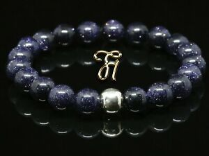 Blaufluss-925er-sterling-Silber-Armband-Bracelet-Perlenarmband-blau-8mm