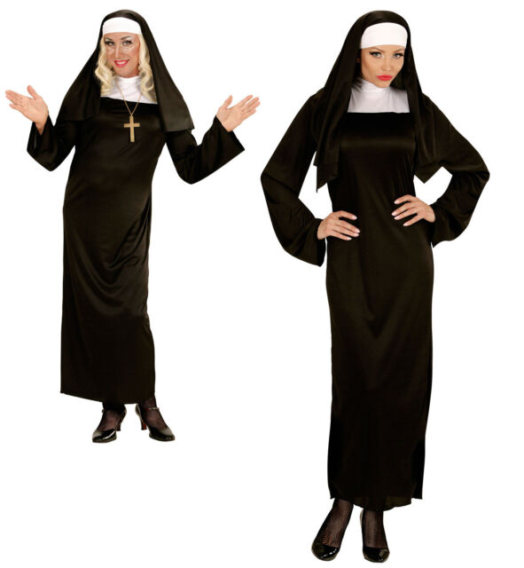Monastero Suora HELGA Costume NUOVO - uomo Carnevale Travestimento Costume