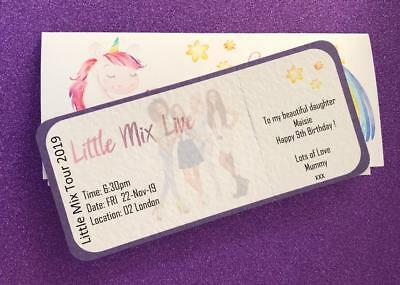 Personalised Gift Wallet Concert//Ticket Holder Birthday Surprise Boys// Girls