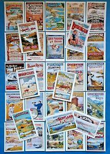 Postcards-Set-of-32-NEW-Stunning-Vintage-UK-GB-Ireland-Repro-Travel-Posters-91M