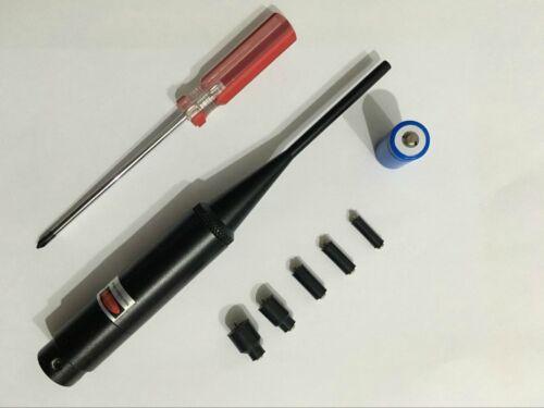 Red Laser Bore Sight kit .22 to .50 Caliber for Rifles Handgun Boresighter C40