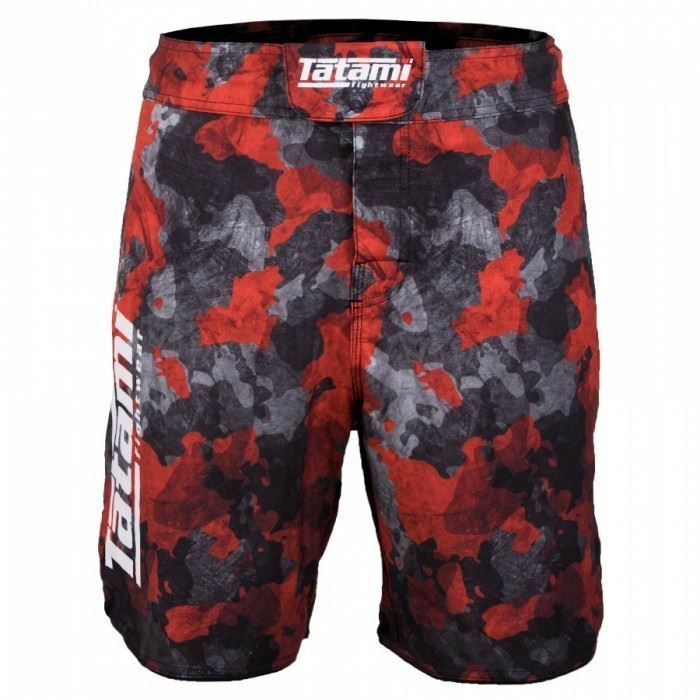 Tatami Renegade BJJ Fight Shorts Red Adult Mens MMA Jiu Jitsu No-Gi Grappling