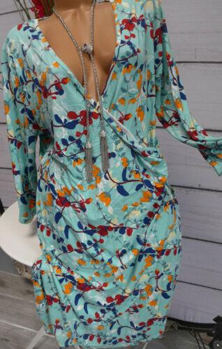 Joe Browns Robe Femmes Jersey Robe Taille 48 VERT A MOTIF 001 NEUF