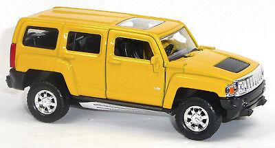 Modellauto SUV Hummer H3 weiß 1:34 Neuware von WELLY Sammlermodell Neuware