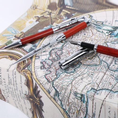 braun inkl Glas Wunschgravur mit Geschenkbox aus Holz Schreibset Borkum