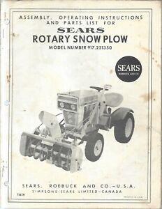 craftsman plow manual