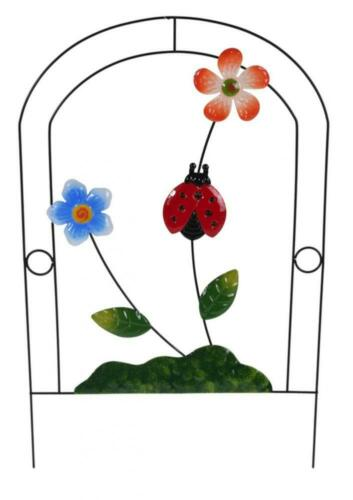 Colourful Metal Animal Garden Ornament Decoration with Flowers