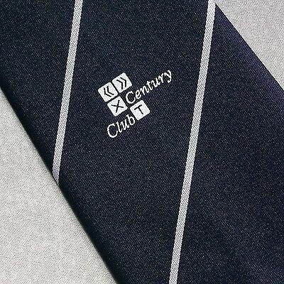 Buono Vintage Cravatta Da Uomo Cravatta Crested Club Associazione Società Cricket Secolo-mostra Il Titolo Originale L'Ultima Moda