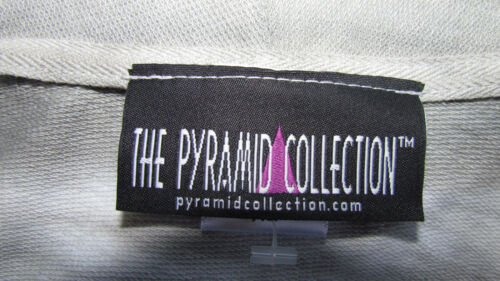NEW L The Pyramid Collection jacket tie dyed ombre gray white top sweater coat