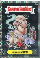 Garbage Pail Kids Chrome Series 1 X Fractor Refractor Base Card 24a NERVOUS REX