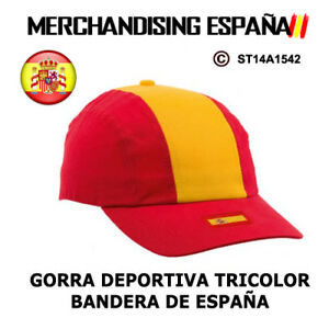 98dc77f2f9b1e La imagen se está cargando MERCHANDISING-ESPANA-GORRAS -DEPORTIVAS-BANDERA-DE-ESPANA-M3