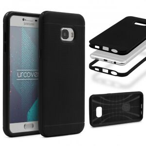 Samsung-Galaxy-c7-BACK-CASE-Carbon-Style-Cover-Dual-Layer-Housse-de-Protection-TPU
