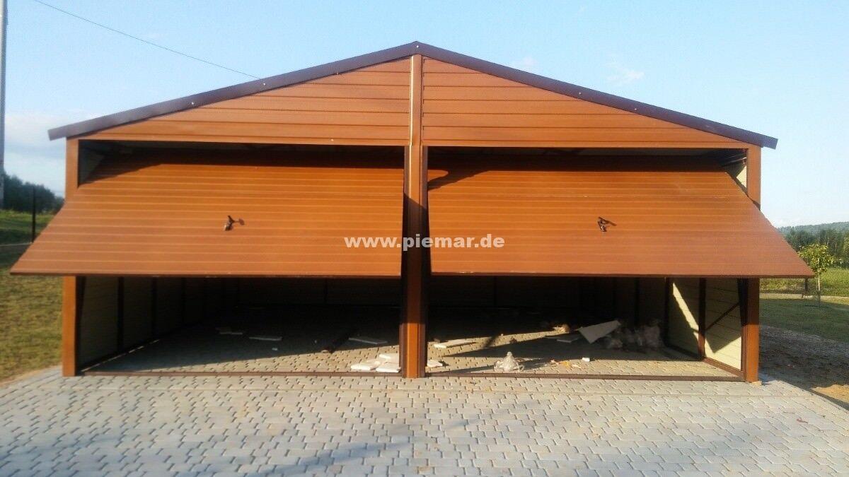 Blechgarage KFZ Lager Garage Garagen 5,5x7x2,6 Holdekofarbe Horizontalpanel NEU