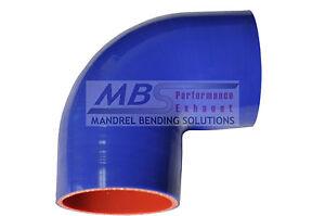 "Blue 3.5/"" Silicone 90 degree Bending Elbow Hose Turbo"