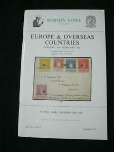 ROBSON-LOWE-AUCTION-CATALOGUE-1981-EUROPE-amp-OVERSEAS-WITH-SCANDINAVIA-FRANCE-ETC