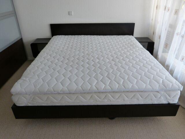 Matratzenauflage Komfortschaum im BEZUG  6 cm.  Topper 160 x 200 cm. Härtegrad 3