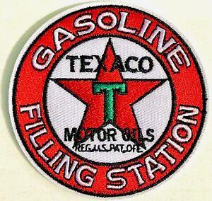 "Texaco Patch Iron on Logo Vintage Gas station-service huiles moteur 3"" petroliana"