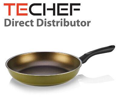 "TeChef Lid Olive Color 12/"" Fry Pan PFOA Free Coated with Teflon® Select"