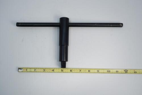 """12/"""" T  handle New Old Stock 9//16/"""" Square Lathe Chuck Key"""