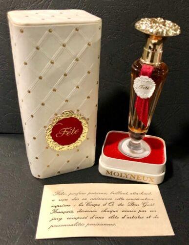 Vintage parfum MOLYNEUX FETE, 1/4 oz, Paris-France unused in box NOS, RARE!  hHpvH QxHsf