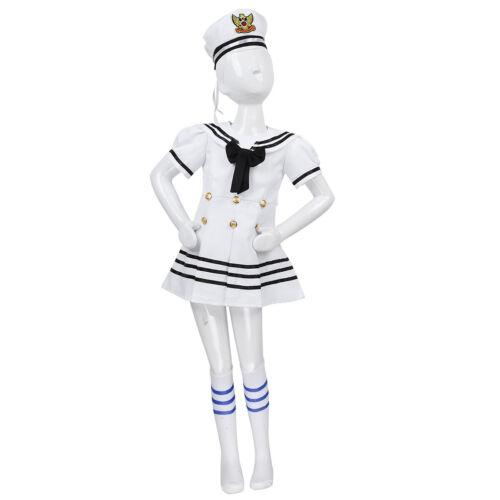 Filles sailor uniforme Costume enfant pom-pom girls Dress up Jazz Moderne Danse Tenue