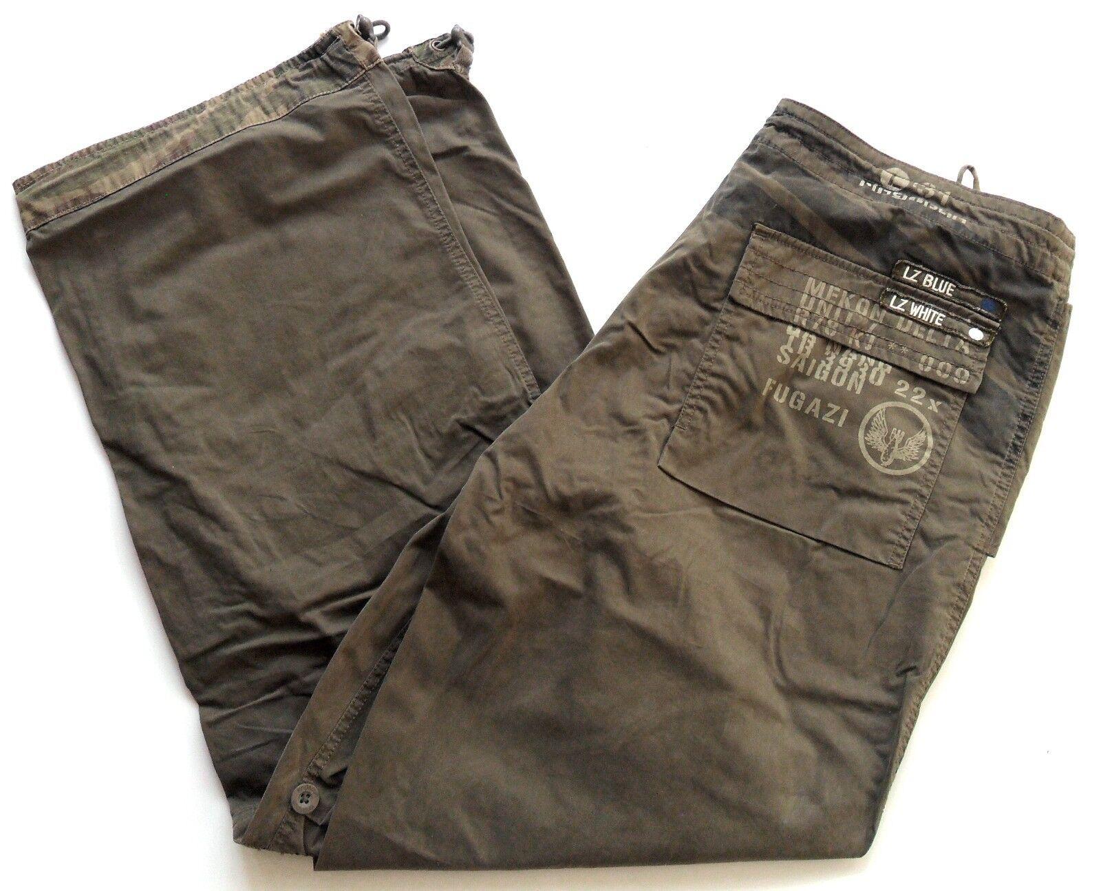 RINGSPUN Men's Pants roll up to Shorts Cotton Blend Snow Khaki Sizes  M,L,XL