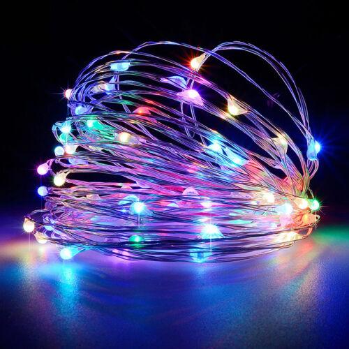 30//60//100 LED String Fairy Light Multi Color Battery Operated Xmas Wedding Decor
