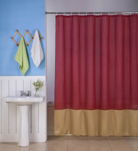 H10 1PC SILKY 2 TONES SOLID BATHROOM FABRIC SHOWER CURTAIN or SOLID LINER