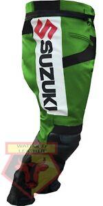 Pants Purposeful Suzuki Gsxr Green Motorbike Motorcycle Cowhide Leather Armoured Pant/trouser Special Summer Sale Motorcycle Street Gear