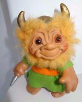 """Vintage 6"""" Viking United Kingdom Dam Things Troll Doll 1965 HTF Rare"""