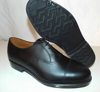 BLACK LEATHER PARADE DRESS SERVICE SHOES - Multiple sizes , British Army , NEW