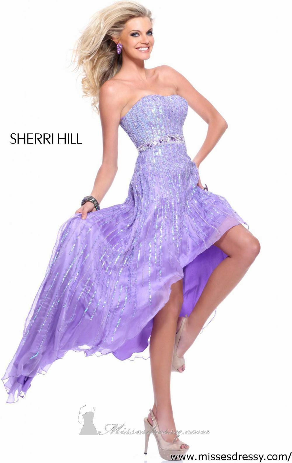 Sherri Hill style 8503 purplec size 4-Prom-Home Coming-Military Ball