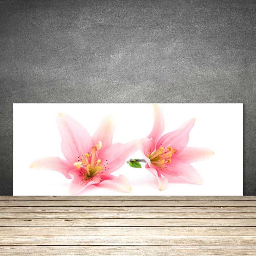 Crédence Crédence Crédence de cuisine en verre Panneau 125x50 Floral Fleurs d8a68e