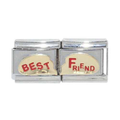 fits 9mm classic Italian charm bracelets Friend blue enamel Italian Charm