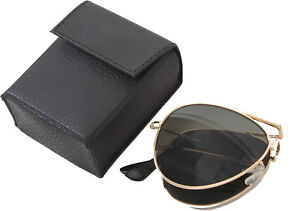 Details about Gold   Smoke Folding US Air Force Type Aviators UV Military  Sunglasses   Case 37383d22d28
