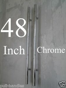Entry Door Pull Handles 48 Long Polished Chrome Front Entrance Modern Ladder 757965385016 Ebay