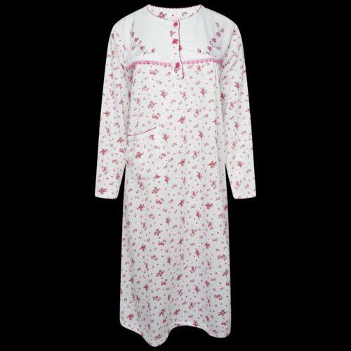 in pile spazzolato Camicia da Notte Nightwear super riscaldante * super Soft COTONE